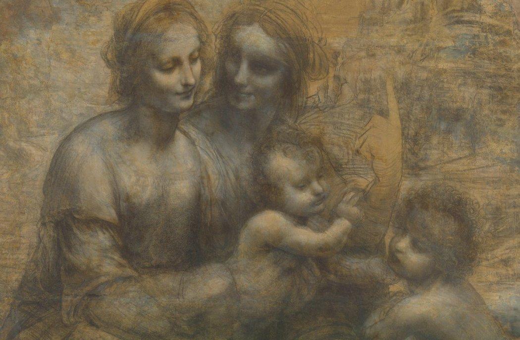 Leonardo da Vinci, Anna te Drieën met Johannes de Doper (Karton van Burlington House)