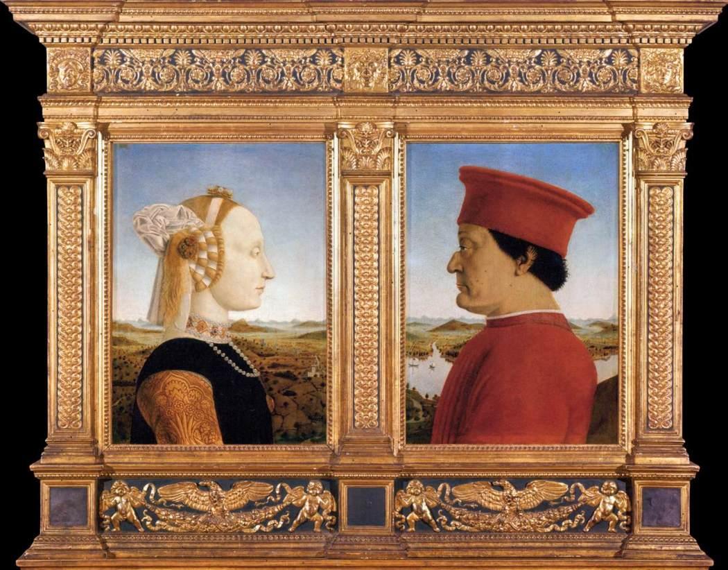 Portretten van Federico da Montefeltro en zijn vrouw Battista Sforza