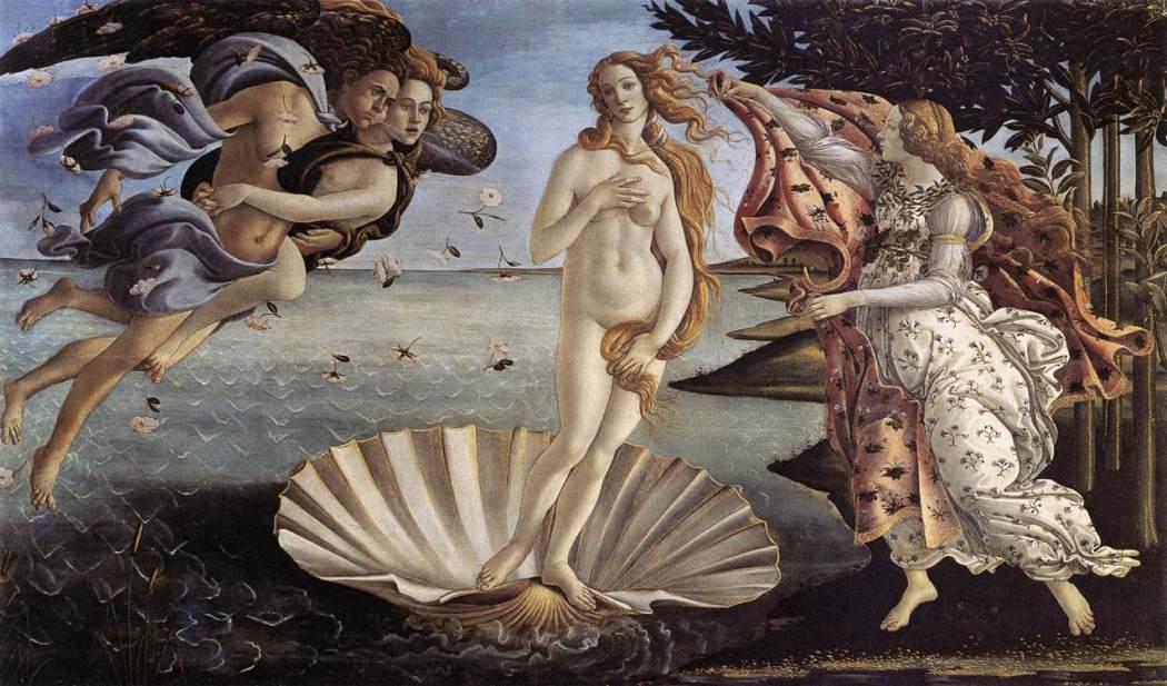 Sandro Botticelli, De geboorte van Venus, Uffizi Florence