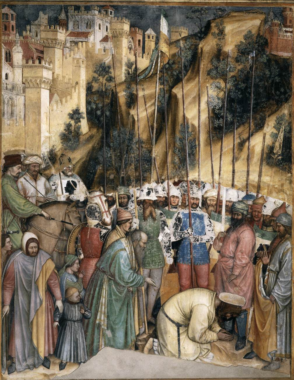 Altichiero da Zevio, De onthoofding van St Joris, Oratorio di San Giorgio, Padua