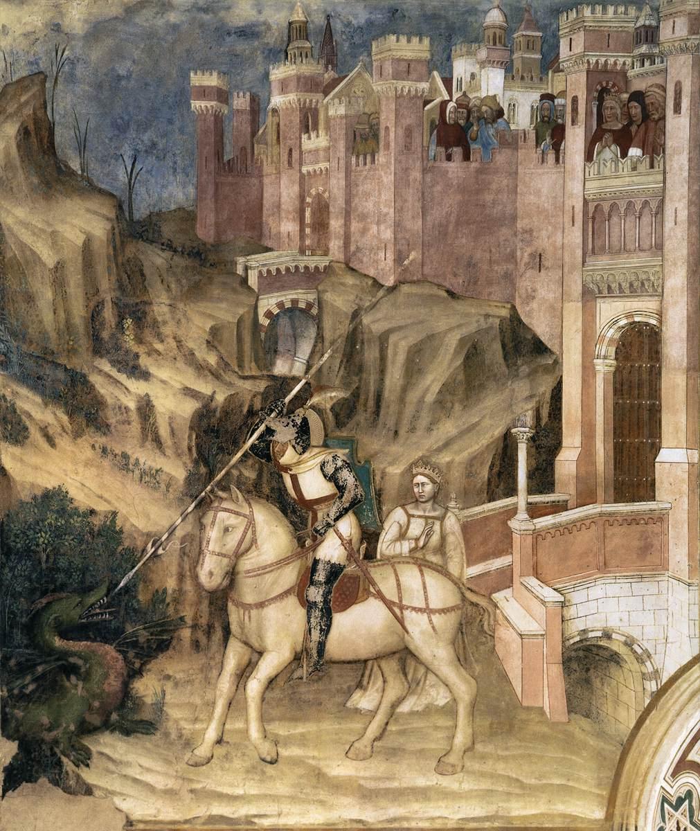 Altichiero da Zevio St Joris doodt de draak Oratorio di San Giorgio, Padua