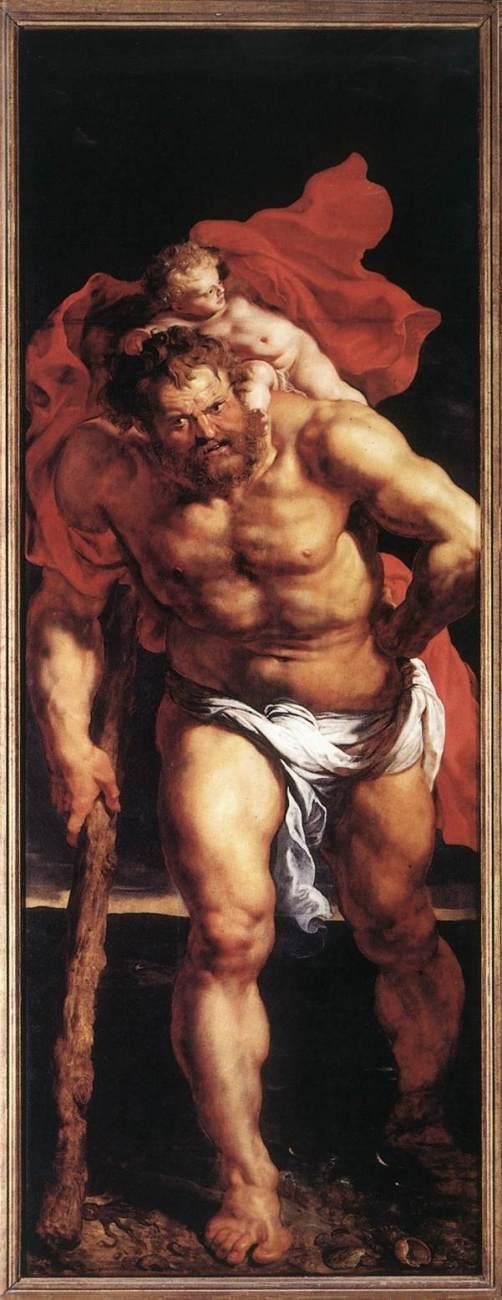 Peter Paul Rubens, Christoffel en Christus, 1612-14, Onze Lieve Vrouwekathedraal, Antwerpen