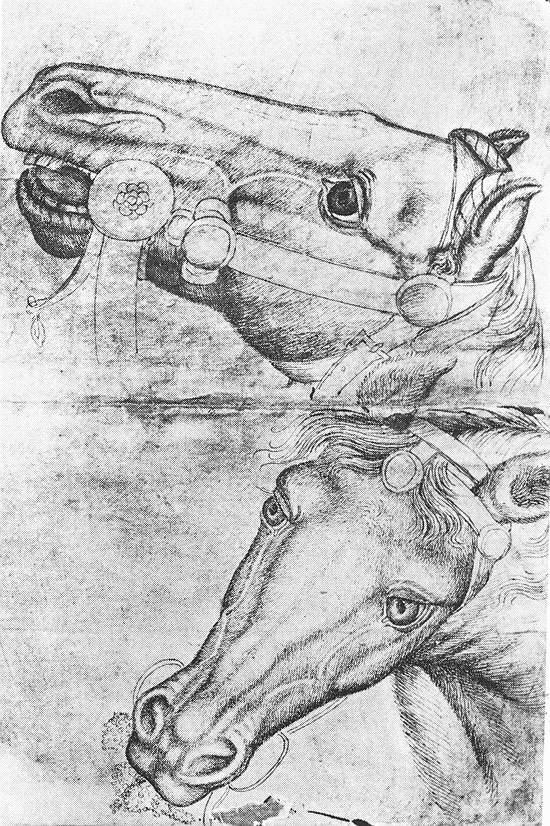 Pisanello, Studie van paardenhoofden, Musée du Louvre, Parijs