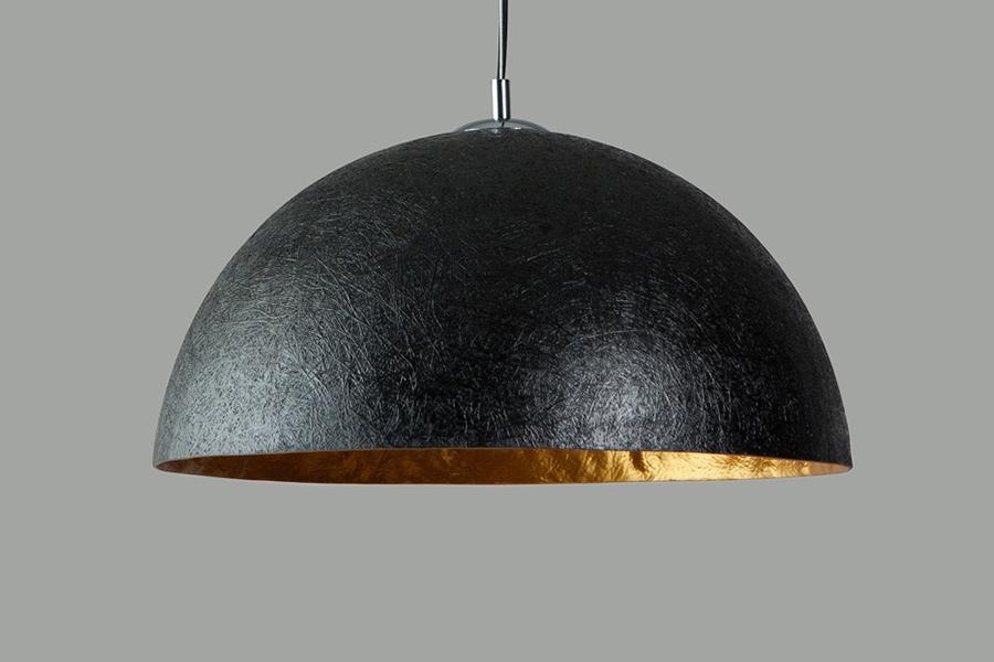Hanglamp Mezzo tondo 1 lichts 50 cm zwart goud