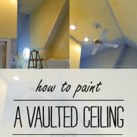 mission possibility: how to paint a vaulted ceiling without a ladder ...