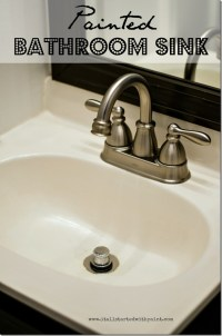 where are they now? how to paint a bathroom sink ... - It ...