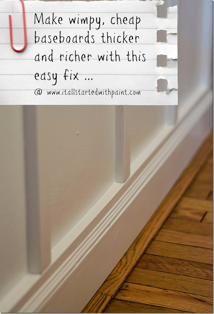 How To Make Baseboards Flush