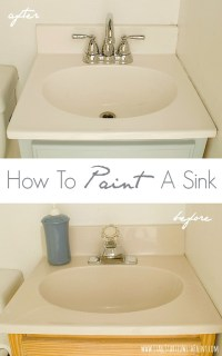 How to Paint a Sink & a Giveaway - It All Started With Paint