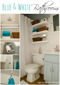 Blue and White Bathroom: Small Space Solutions