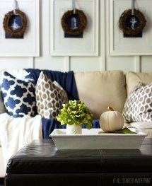 Navy Blue and White Home Decor