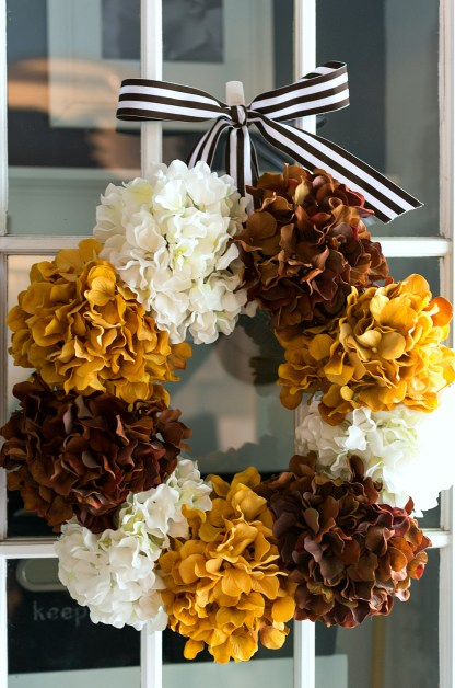 Hydrangea Wreath for Fall: Quick & Easy Wreath for Fall