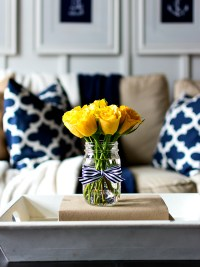 Spring Decor Ideas in Navy and Yellow - It All Started ...
