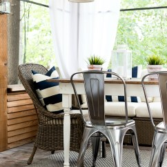 Metal Farmhouse Chairs Hanging Garden Australia Navy White Screen Porch It All Started With Paint