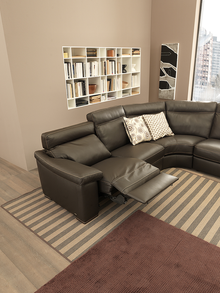 sectional sofas and recliners chesterfield sofa cheap uk b 814 leather sectional, natuzzi editions - italmoda ...