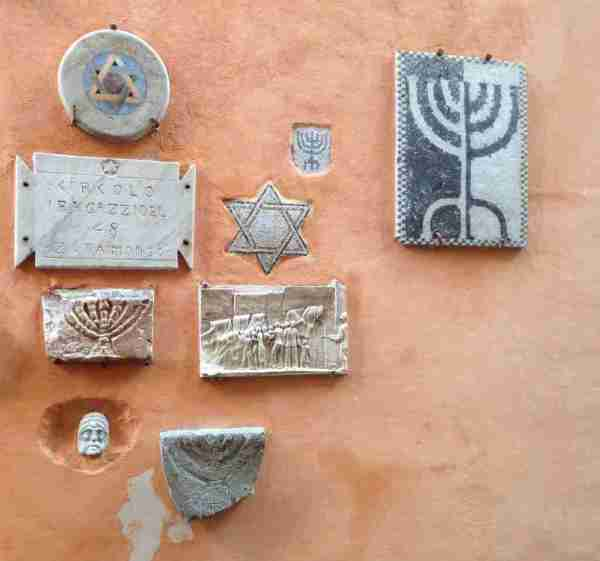 Marble tiles in the Jewish Quarter of Rome