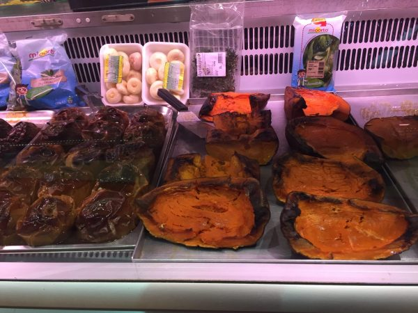 Flavors of Ferrara and Modena: Roasted pumpkin at Mercato Albinelli