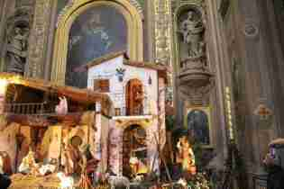 Christmas presepe in the Duomo of Ferrara