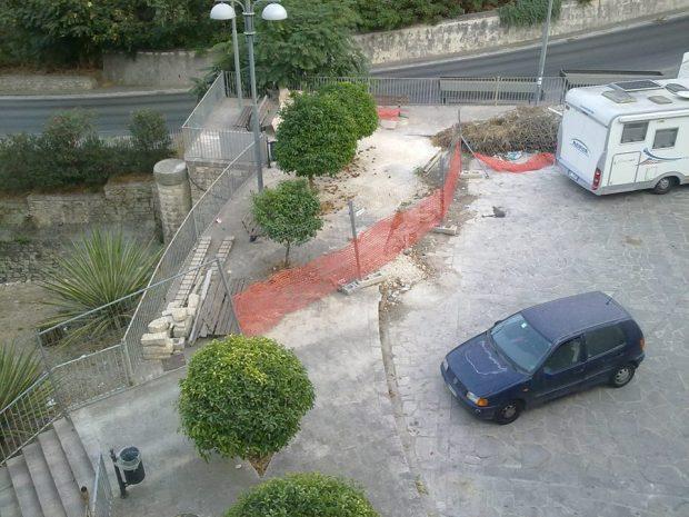 Il cantiere del parcheggio di Largo San Paolo