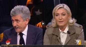 """Marine Le Pen a D'Alema in diretta tv: """"Ma stai ancora a far politica?"""" – VIDEO TRASMISSIONE"""