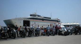 Equipaggi da Milano, Torino e anche dal Belgio per partecipare all'11esimo mototour Sicilia-Malta