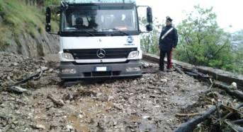 Palermo, maltempo. I carabinieri intervengono a seguito di una frana