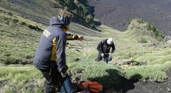 Recuperate dal soccorso alpino GdF tre persone disperse sull'Etna a quota 1400 mt