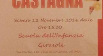 """Fossa di Concordia (Mo). Sesta Festa della Castagna alla scuola dell'infanzia """"Girasole""""."""