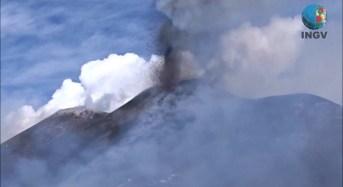 Etna, riprese video attività eruttiva al Nuovo Cratere di Sud-Est, 15 marzo 2017