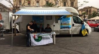 Catania. In piazza Stesicoro è arrivato il camper di TerraMare Sicilia