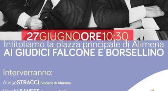 Ad Alimena si intitola una piazza ai giudici Falcone e Borsellino