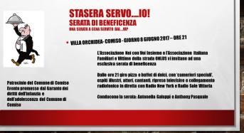 """Villa Orchidea –  """" STASERA SERVO … IO"""" :  serata all'insegna della solidarietà"""