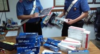 Sequestrati 500 pacchetti di sigarette e 14 motorini