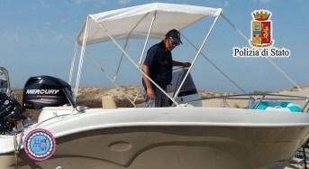 La squadra nautica del Commissariato di Gela ritrova natante rubato abbandonato in mare e in balia delle onde