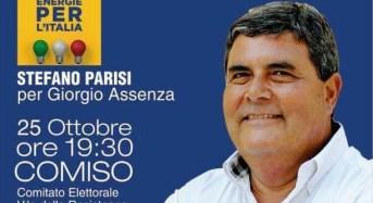 Stefano Parisi a Ragusa e Comiso a sostegno del candidato presidente Nello Musumeci e di Giorgio Assenza