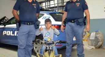 Gioia immensa per il piccolo Richard: La Polizia gli ritrova il quad rubato