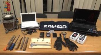 """Arrestati due ladri: Da Agrigento a Ragusa per commettere il furto """"armati"""" di ogni tecnologia"""