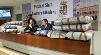Modena. La Polizia di Stato arresta un cittadino albanese e sequestra 106 chili di marjuana