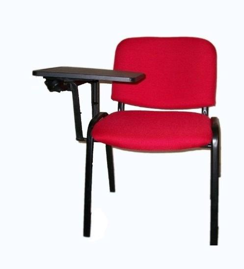 Stock 100 sedie riunione conferenza con ribaltina in tessuto colore rosso