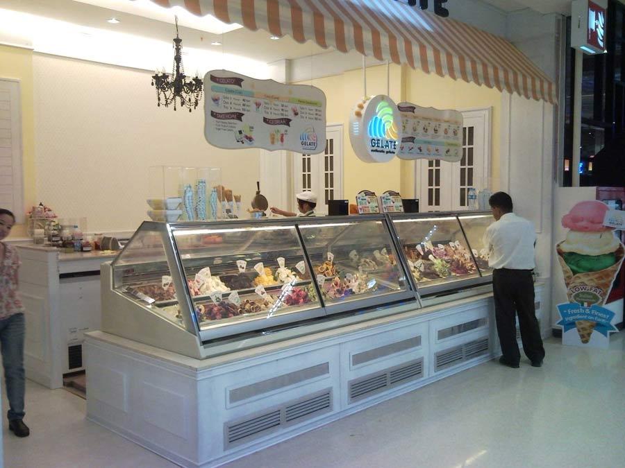Fotografie vetrine gelato
