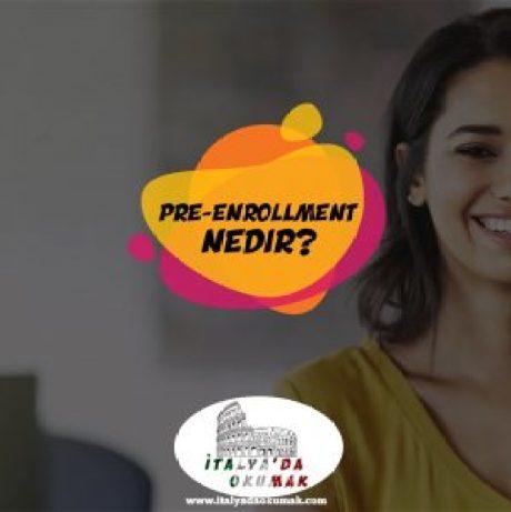 pre-enrollment-nedir