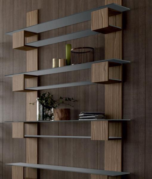 infinity meuble bibliotheque mural a etageres