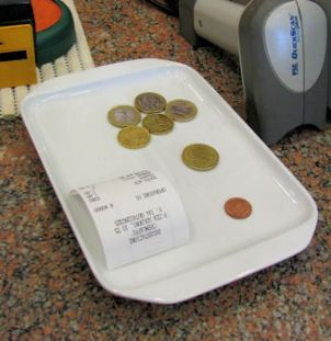 What's that small tray near the cash register?   Italy from the Inside
