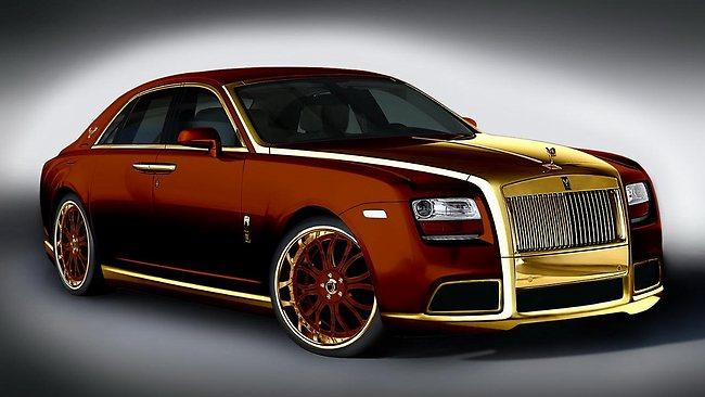 Roll Royce Car Hd Wallpaper Gold Covered Rolls Royce Customized By Italian Designer