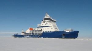 Viimeinen jäänmurtaja Polaris lähti kotimatkalle