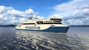 Wasalinen uuden matkustaja-autolautan köli laskettiin Rauman telakalla