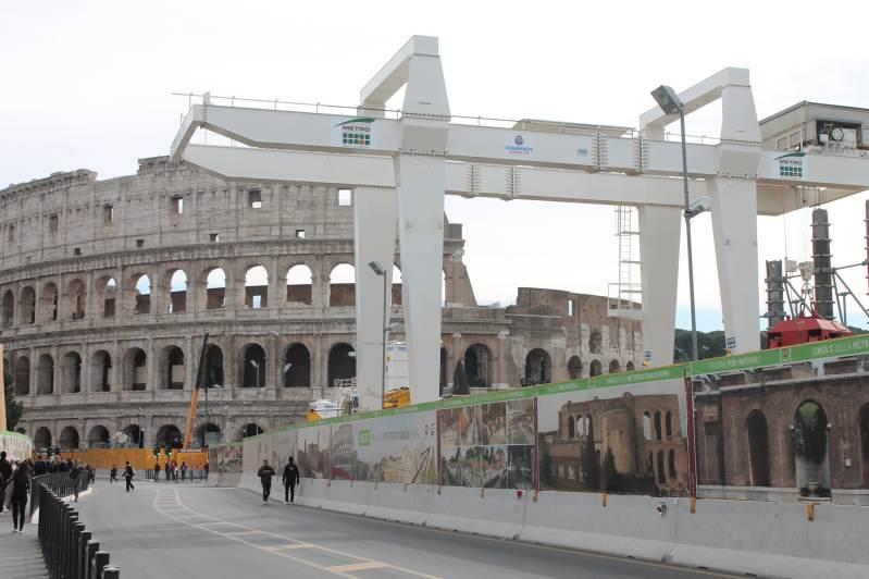 obras metro roma coliseo