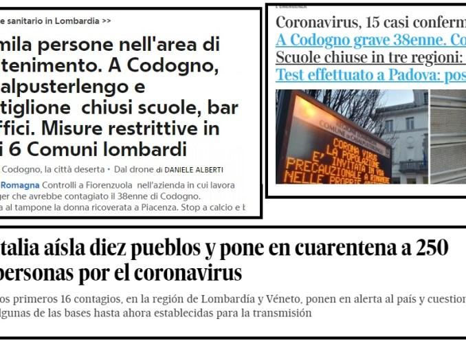 coronavirus italia noticias