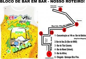 bloco de bar em bar