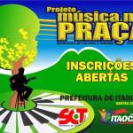 Inscrições abertas para músicos participar do PROJETO MÚSICA NA PRAÇA