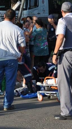 Cena desesperadora: criança foi atendida pelo Samu, mas não resistiu aos ferimentos (Tribuna do Guaçu)